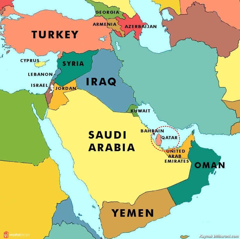 Katar'ın Haritadaki Yeri