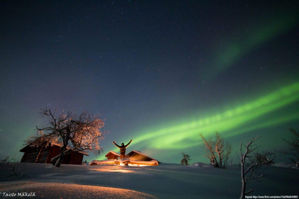 Laponya, Finlandiya Kuzey Işıkları